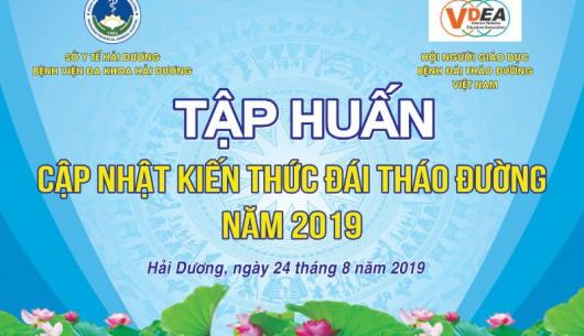 Thông báo tổ chức Tập huấn cập nhật bệnh đái tháo đường 2019 tại Hải Dương